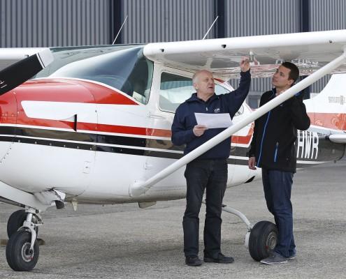 Ausbildung in der Flugschule Baden