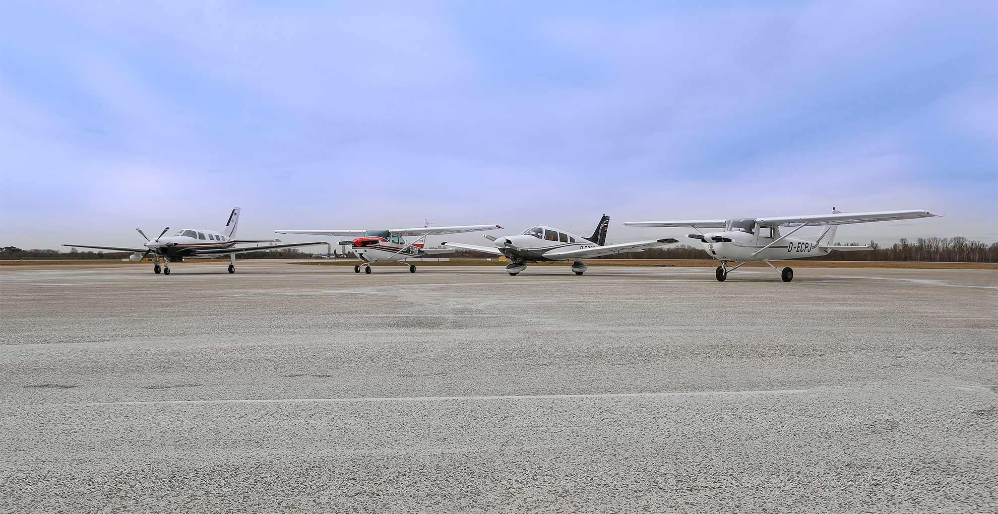 Flotte der Flugschule Baden